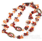 agate long style necklace agate collier style long