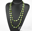 Wholesale 51 inches dark green pearl shell logn style necklace