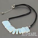 Wholesale 6*20mm opal necklace with extendable chain