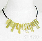 Wholesale fashion olive stone necklace
