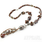 necklace with lobster Agate halskjede med hummer clasp clasp