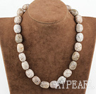 Wholesale 12-16 agate necklace with moonlight clasp