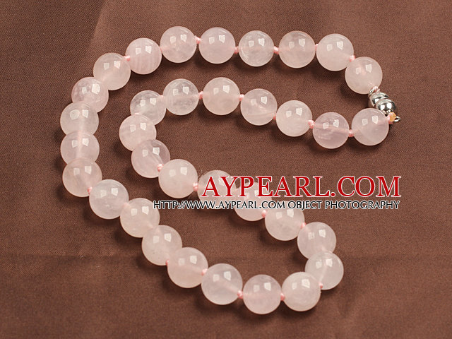 Design clasic 12mm geometric Rose cuarţ colier cu margele