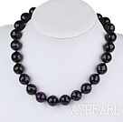 16mm faceted round amethyst beaded necklace