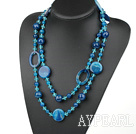 şi agat lung style necklace stil colier
