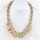 Wholesale 17.5 inches fashion seashell beads necklace with magnetic clasp