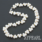 nn white pearl necklace hvitt perlekjede