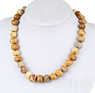 Wholesale 12-14 flat round silver leaf agate with toggle clasp