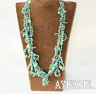 Wholesale elegant multi strand amazon stone necklace with jade clasp