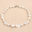 Classic Style Natural A Grade White Nuclear Pearl Party Necklace