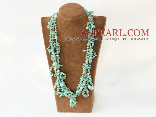 elegant multi strand amazon stone necklace with jade clasp