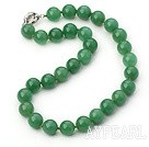 14mm round aventurine necklace with spring ring clasp