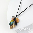 simple and fashion multi color stone and crystal necklace
