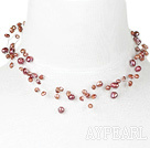 bridal jewelry dyed pearl necklace