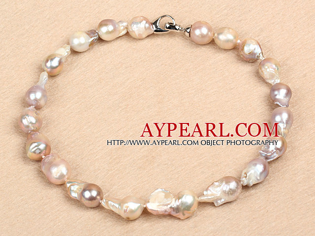 Classic Style Natural A Grade Purple Nuclear Pearl Party Necklace