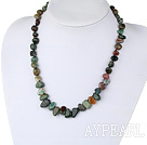 Fashion 17.5 Inches Multi Colorful India Agate Knotted Strand Necklace With Inserted Closure