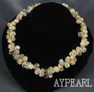 light yellow burst crystal necklace