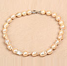Classic Style Natural A Grade Pink Nuclear Pearl Party Necklace