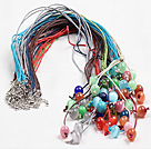 62 inches pearl crystal and shell and agate long style necklace