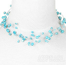 fantastic blue pearl necklace with toggle clasp