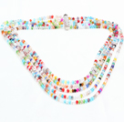 Gorgeous Summer Style Five Strands Multi Color Crystal Party Necklace