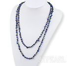 51 inches blue pearl and lapis long style necklace