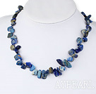 Wholesale 18 inches single strand lapis necklace