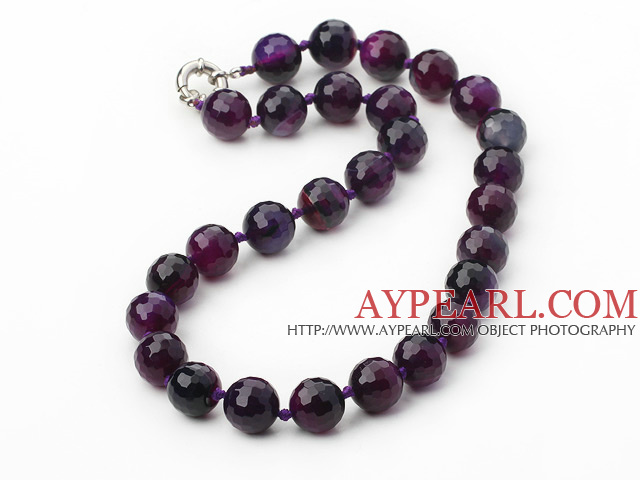 14mm round natual agate with spring ring clasp