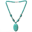 Classic Style Turquoise Necklace with Lobster Clasp