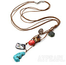 simple and fashion colorful stone necklace