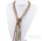 Wholesale pearl crystal necklace long style necklace