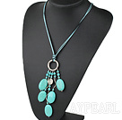 Wholesale 19.5 inches turquoise necklace with lobster clasp