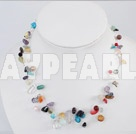 17.5 inches multi stone necklace with lobster clasp