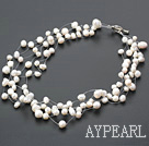 17.5 inches white pearl necklace with toggle clasp