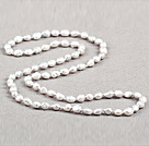 Simple Fashion Long Style Natural Gray Baroque Pearl Necklace