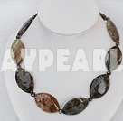 Wholesale chunky style agate necklace with moonlight clasp