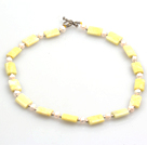 Wholesale 18 inches 14*18mm yellow opal necklace with moonlight clasp
