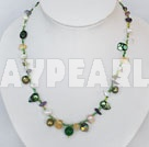 Wholesale pearl crystal necklace with magnetic clasp