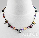 Wholesale single strand multi color pearl crystal necklace with magnetic clasp