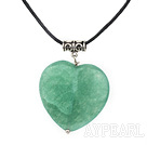 aventurine heart pendant necklace