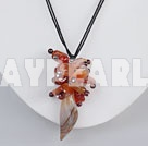 Wholesale natural agate cluster pendant necklace