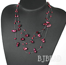 Wholesale bridal jewelry dyed purple pearl necklace