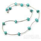 Wholesale 18 inches 6-12mm turquoise necklace with lobster clasp