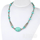 Wholesale 18 inches single strand turquoise necklace