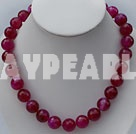 faceted pink agate necklace with moonlight clasp