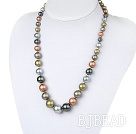 Wholesale 19 inches seashell graduated beaded necklace with moonlight clasp