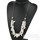 Wholesale fashion teeth pearl necklace with metal loops