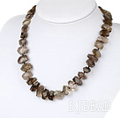 Wholesale smoky quartze necklace with moonlight clasp