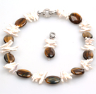 17.7 inches shinning black sea shell necklace with magnetic clasp