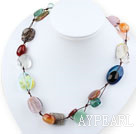 19.5 inches multi stone necklace with moonlight clasp